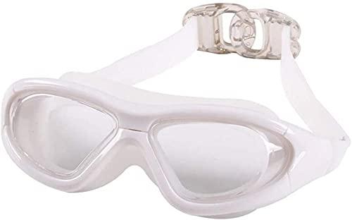 ZJJJD Gafas De Natación Con Montura Grande Gafas De Natación Transparentes Ajustables Con Impermeables Y Antivaho Para Unisex Adulto Joven-blanco Gafas Piscina Gafas Buceo Niño Gafas De Buceo Adulto