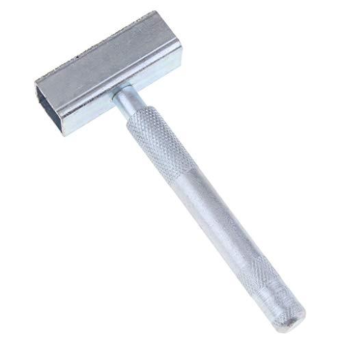KESOTO Schleifscheibenabrichter, Rutschhemmender Handgriff, aus Metall - Silber