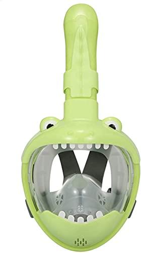 Goggles Mascara Buceo Niños Cara Llena Gafas de Buceo 180 Grados Vista panorámica Anti-Fog Anti-Fugas Natación Engranaje de Snorkeling para niños Adolescentes (Color : Dinosaur)