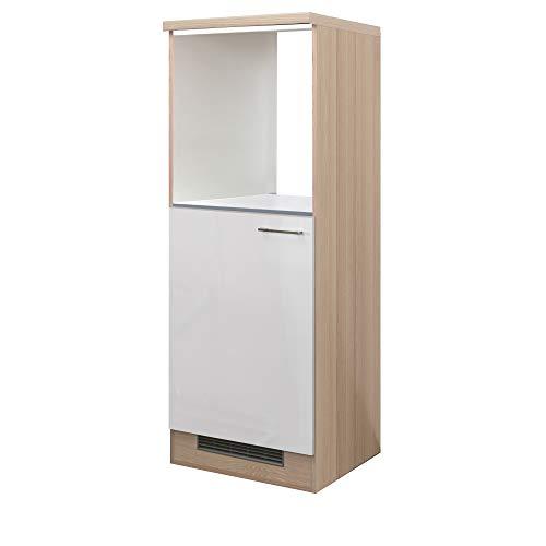 MMR Midi-Umbauschrank DERRY - für Kühlschrank und Backofen - 1-türig - Breite 60 cm - Perlmutt Weiß