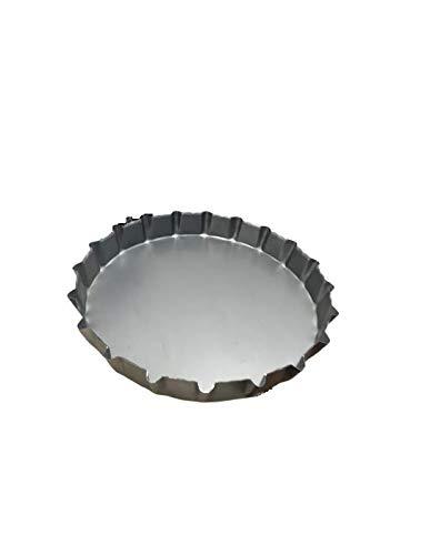 acquaverde Tegame Tegami in Lamiera per Focaccia Barese Pugliese da Forno Ø 30x4,5 cm