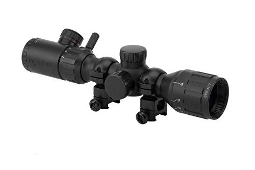 Monstrum 2-7x32 AO Rifle Scope with Illuminated Range Finder Reticle and Parallax Adjustment | Black