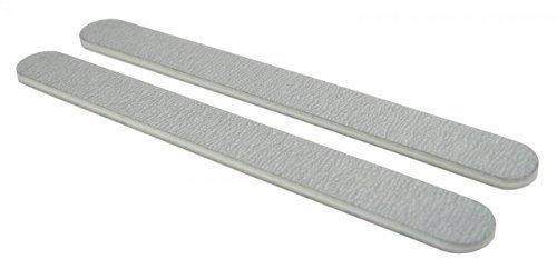 Standard Zebra 80/100 (Wht Ctr) Nail File 50 Pack by Nail File Guru