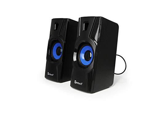 BOCINAS PARA PC GETTTECH SK1000, ALAMBRICAS, 2.0, 3W X 2RMS, USB, NEGRAS (SK1000)