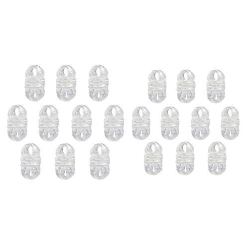 CUTICATE 20 Unids/Set Carpa Hebillas Conector Carpa Ganchos Clips Reutilizables para Toldos Flexibles