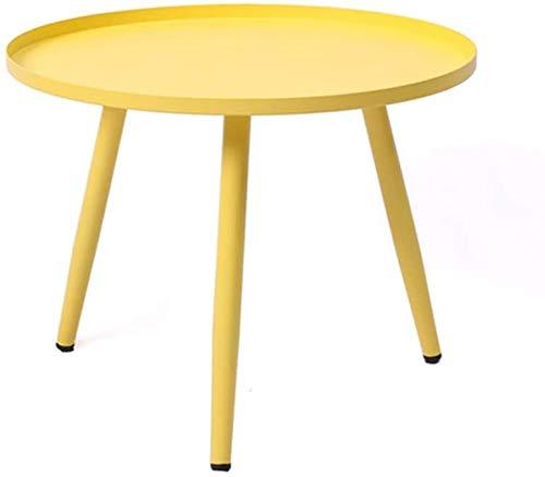 Mesitas de metal, café mesas de acento, un pequeño sofá mesas mesa de centro redonda merienda óxido impermeable,Yellow