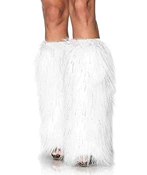 Leg Avenue Faux Fur Lorax Legwarmers for Women White/Silver One Size