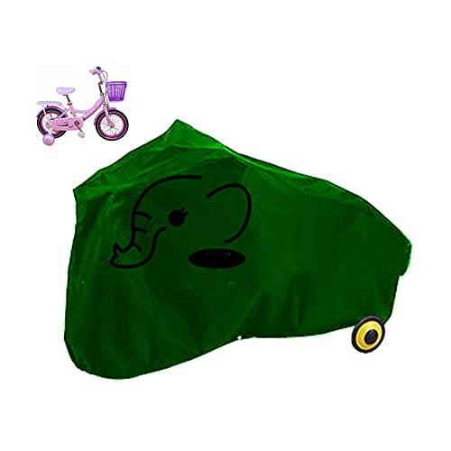 jihandong Funda Bicicleta Impermeable Anti Polvo para Montaña Carreras Bicicleta para Niños Small-Green