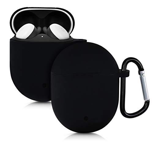 kwmobile Hülle kompatibel mit Google Pixel Buds 2 (2020) Kopfhörer - Silikon Schutzhülle Hülle Cover Schwarz