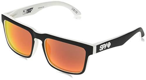 Spy Herren Sunglasses Helm Sonnenbrille, Whitewall-Happy Gray Green W/Red Spectra, 57