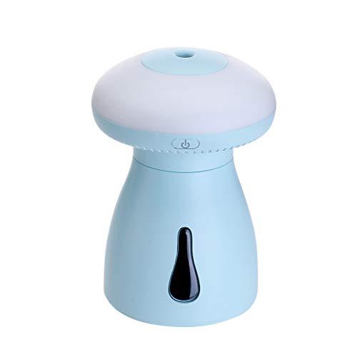 Makalon Nachtlicht Luftbefeuchter mit USB Ladekinder Schlafzimmer Pilz LED Lampenreiniger automatischer Abschaltschutz Verbessert die Luftqualität und die Ruhe besonders stark