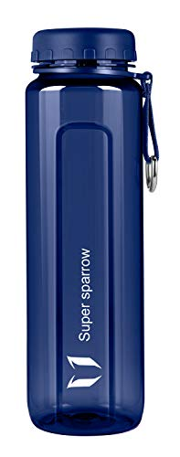 Super Sparrow Borraccia a Bocca Larga - Bottiglia Tritan Senza BPA - 500ml / 750ml / 1000ml - per Sport, Campeggio, Palestra, Fitness, all'aperto