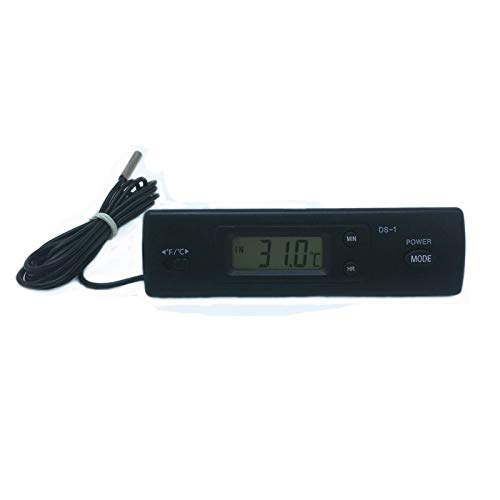 Hanks 'Shop. Thermometer Digitales Indoor/Outdoor-Thermometer mit Uhr