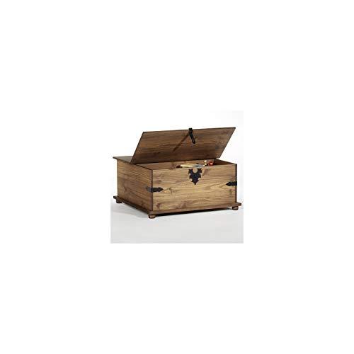 Mexico Möbel Truhentisch TEQUILA mit 5 Schubladen in braun, 92x87x45cm - 4