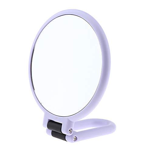 T TOOYFUL Miroir Cosmétique, Miroir de Maquillage Rasage Double Face, Miroir sur Pied Pivotant à 360° pour Salle de Bain - # 11 Grossissant 10x