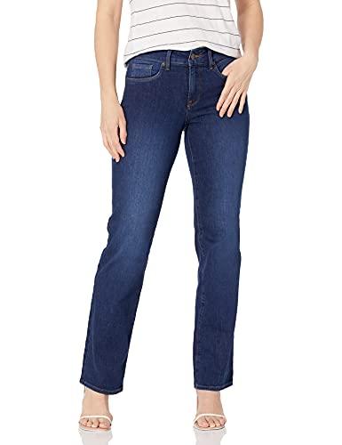 NYDJ Women's Petite Size Marilyn Straight Leg Jeans, Cooper, 10P