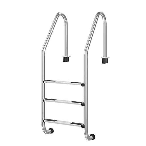 Goplus Swimming Pool Ladder for In Ground Pools Heavy Duty 3-Step Stainless...