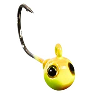 GUNKI JIG HEAD G'ROUNG – PACK OF 3-8, By 3, Orange Fluo-Yellow, N°3/0