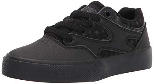 DC Kinder Kalis Vulc Skate Schuhe, Schwarz/Schwarz/Grau, 38 EU