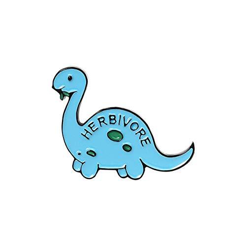 Pasadores de esmalte de dinosaurio de dibujos animados Stegosaurus Pterosauria Broches para niños Amigos Jurásicos Insignias de Animal Bolsa de solapa Pin-Style3
