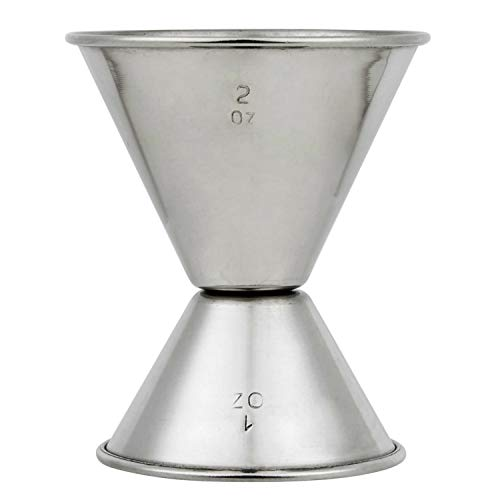 Stainless Steel Jigger 2 oz 1 oz Double Cocktail Jigger for Bartending with Measurements Home...