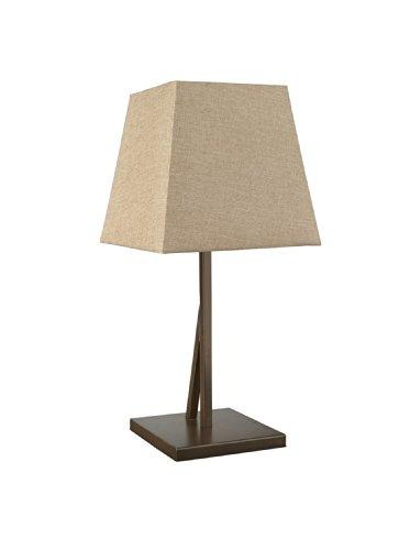 Massive Delius 915004100302 tafellamp, 1 x 60 W, 230 V, ijzer, bruin