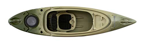 """Perception Flash 9.5, Sit Inside Kayak for Fishing and Fun, Two Rod Holders, Multi-Function Dash, 9' 6"""", Classic Camo"""