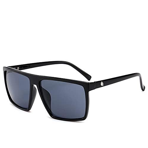 NJJX Gafas De Sol Cuadradas Para Hombre Gafas De Sol Fotocromáticas De Gran Tamaño Con Espejo Gafas De Sol Masculinas Para Hombre 1-Blackgray