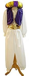 stage-panto-aladdin-prince NUOVO! genio della lampada con ciambella Cappello Costume - Adulti Taglie - Come Mostrato, Men: X-Large