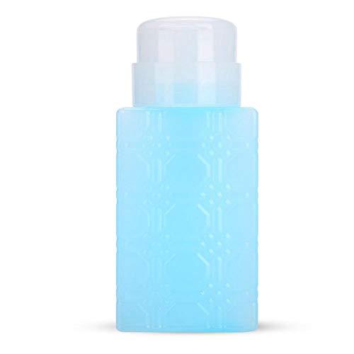 Distributeur de Pompe, Bouteilles de Pompe à Liquide Vide Portatives de 250 ml, Contenants de Lotion Démaquillante, Bouteilles de Presse en Plastique pour le Retrait du Vernis à Ongles(Bleu)