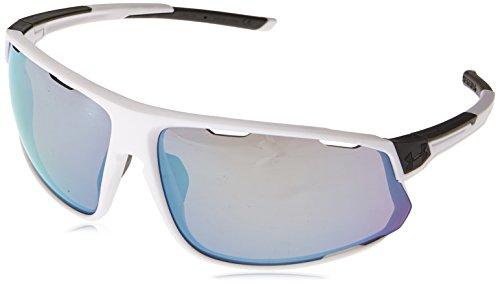 Under Armour Strive Wrap Sunglasses, Satin White/UA Tuned Baseball with Blue, l