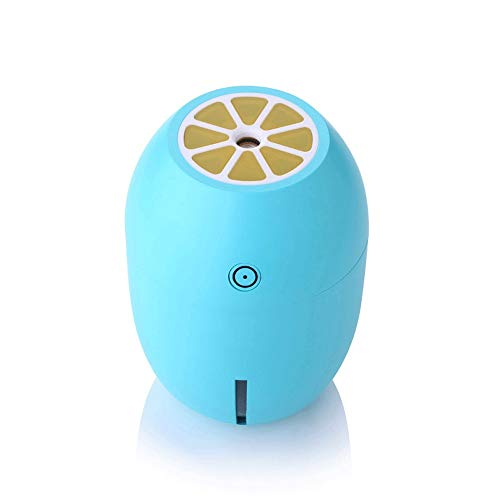 VSousT Auto Umidificatore ad ultrasuoni a Freddo Spray a Vapore Viso umidificatore Portatile Mini Lemon Shape Camera da Letto Desktop Spa Baby Room (Color : Blue)