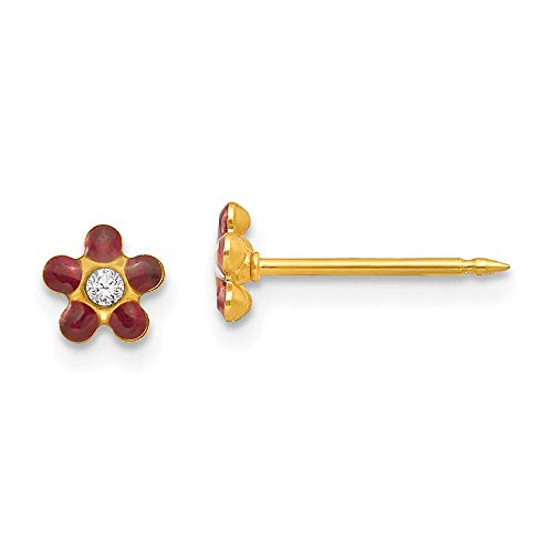 Inverness 14ct Yellow Gold January Crystal Birthstone Earrings