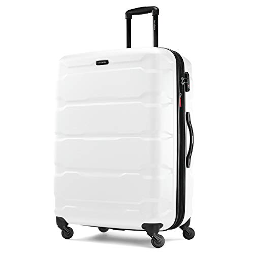 Samsonite Omni Expandable Hardside Carry On Luggage with Spinner Wheels, 28-Inch, White