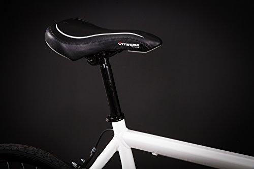 28″ Zoll Alu Rennrad Single Speed GIORDANO Race Bike Fixi Fahrrad Rh 56cm weiss - 5