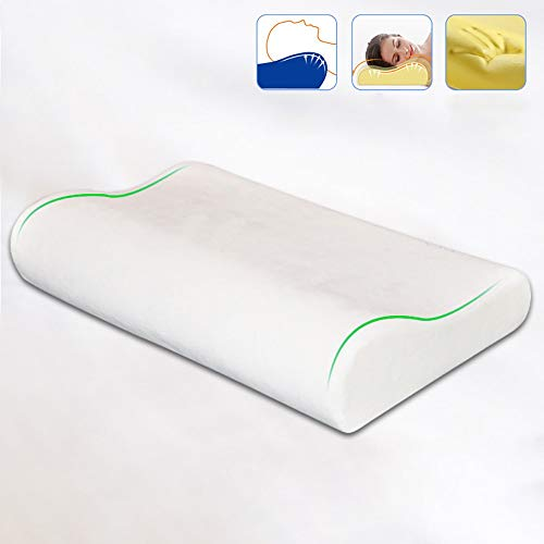 YLXD Memory Foam Pillows,Ergonomic Deep Sleep Contour Cervical Bed Pillow, Best Support Neck Pillows Reduces Cervical Pain for Back and Side Sleepers