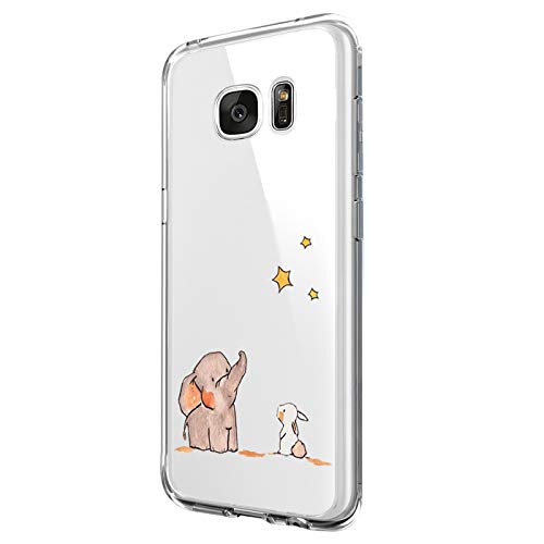 JEPER Compatibel met Galaxy S8 Case, S8 telefoonhoezen Crystal Clear Ultra Thin Flexibel Silicone Case Transparant Premium TPU Soft Cover Slimcase Case voor Galaxy S9, bloes, Samsung Galaxy S6, 08
