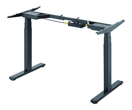 StandXT elektrisch höhenverstellbarer Schreibtisch, 2 Motoren, Höhe 62-128cm, Tischgestell D08 Advanced, Kollisionsschutz, Memoryfunktion, Farbe:schwarz