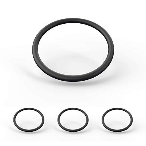 MIUMEE ® [4er Set] Türstopper Ersatzringe für Türstopper Boden - Gummiring Türstopper Edelstahl - Rubber Ring Door Stopper - Tür Stopper Schutzring - Ersatzring - O-Ring (4, 10 x 0,8)