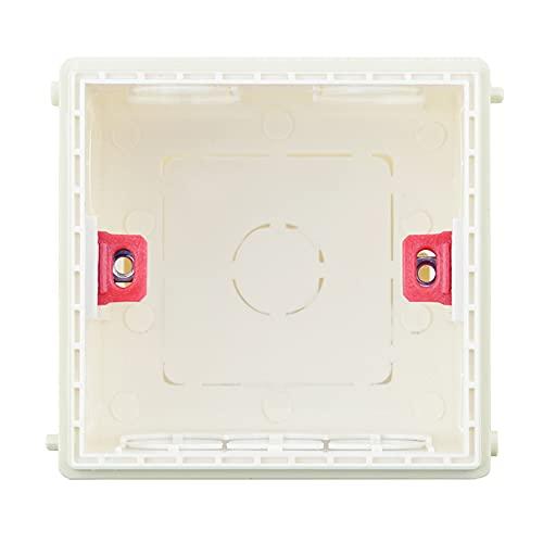 Caja Conexiones Electricas 3 unids Atlítico Caja de montaje Cassette Interruptor de casete Caja de conexiones oculta Caja de montaje interna oculta Tipo 86 Blanco Caja azul roja Caja De Empalmes