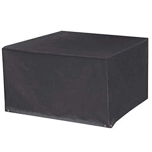 Courtyard Tischabdeckung Leistungsstarke sturmsichere schwarze rechteckige Möbel mit 6 Sitzen, schwarz (Size : 213 * 132 * 74cm)