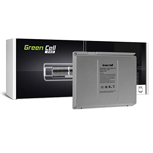 Green Cell PRO Serie A1189 Batteria per Portatile Apple MacBook Pro 17 A1151 A1212 A1229 A1261 2006-2008 (70Wh 10.8V Argento)