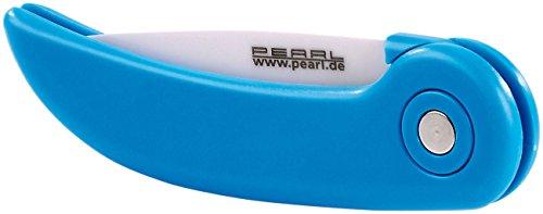 PEARL Keramik Taschenmesser: Keramik-Klappmesser mit ergonomischem Griff, 7,5 cm Klingenlänge (Taschen-Messer)