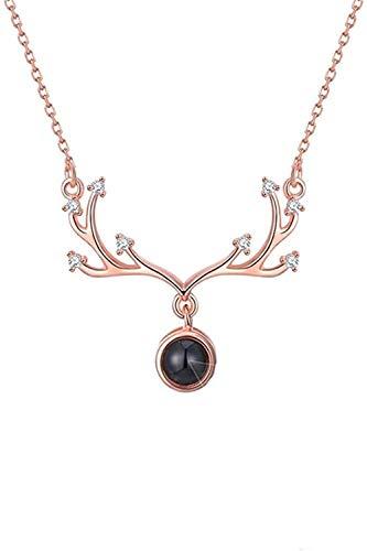 ZGYFJCH Co.,ltd Collares Idiomas I Love You Collar Personalizado Mujer Collar Personalizado Po Collar Eye Colgante