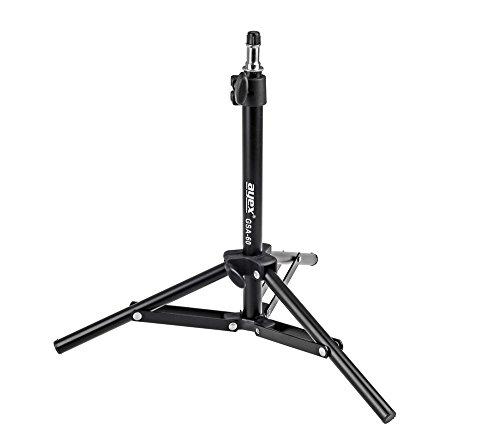 Kompaktes leichtes Lampenstativ ayex GSA-60, stufenlos einstellbar von 34 bis 70cm, mit 5/8
