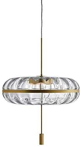 VIWIV Lámpara de Techo Restaurante Minimalista Moderno Bar Candelabros LED de Vidrio Ovalado Sala de Estar Creativa Dormitorio Luz de Techo Hotel Club Decoración Lámparas 32 * 48CM