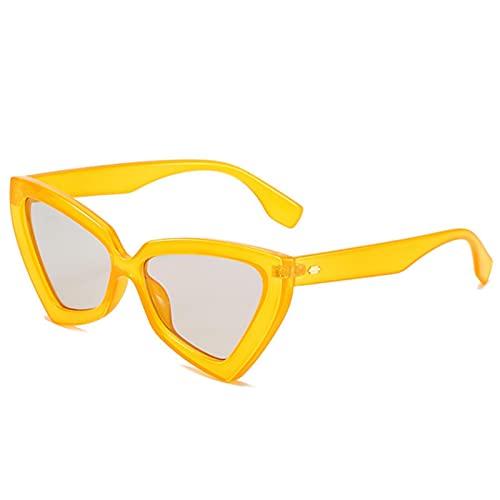 Gafas Sol De Hombre Mujer Polarizadas Sunglasses Gafas De Sol Triangulares Atractivas para Mujer, Gafas De Sol con Forma De Ojo D