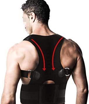 Back Support Posture Corrector Back Space M para hombres Mujeres y adolescentes, la posibilidad de espalda superior ajustable y transpirable proporciona soporte de respaldo, mejora Slouch para el cuel