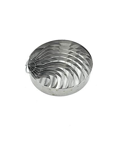 Concha cutter Mexican bread made of stainless steel, 4 inches in diameter with two patterns / Cortador de concha para pan mexicano de acero inoxidable, 10 centímetros de diámetro con dos patrones