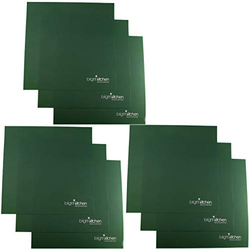 """Set of 9-14"""" x 14"""" Silicone Sheets for Excalibur Dehydrator Bright Kitchen Re-Usable Non-Stick Mat (9)"""
